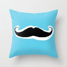 Mean-Stache Throw Pillow