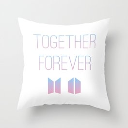 Together Forever BTS Throw Pillow