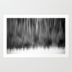 Abstract Trees Monochrome Art Print