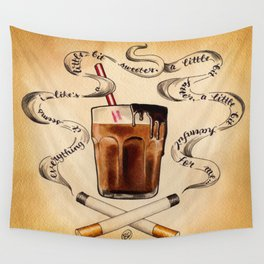 Cigarettes and Chocolate Milk Wall Tapestry