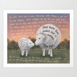 Sheep 2 Art Print