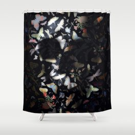 Butterfly And Skull Shower Curtain