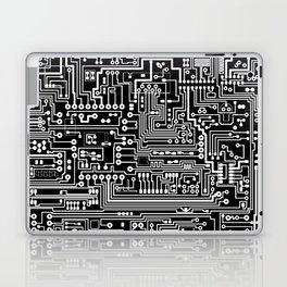 Circuit Board on Black Laptop & iPad Skin
