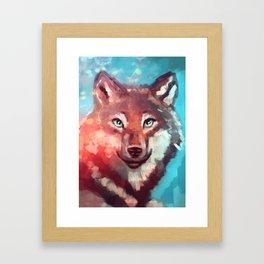 Wolf - Stare - Wanderlust Framed Art Print