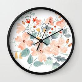Dogwood Flowers Wall Clock