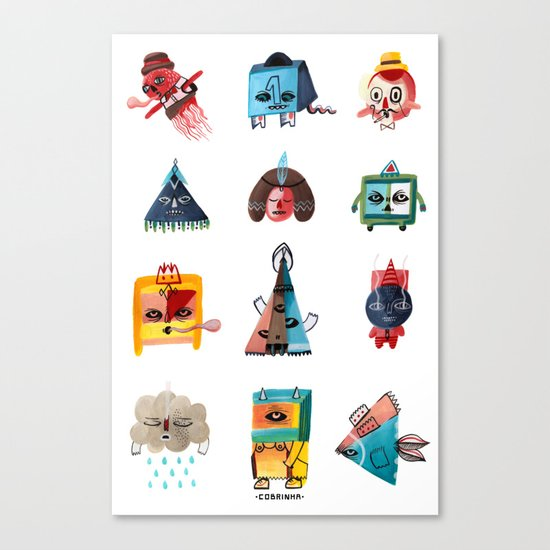 Monster Shapes Canvas Print
