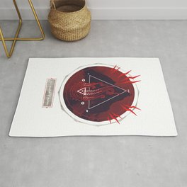 Mountain of Madness (red) Rug