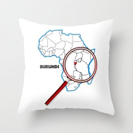 Burundi Under A Magnifying Glass Throw Pillow