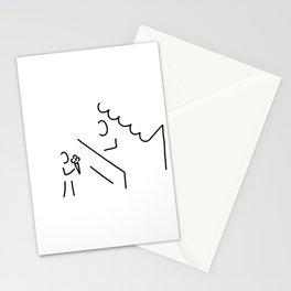 child eat waffle Stationery Cards