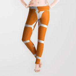 Orange Honeycomb Leggings