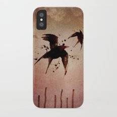 On your fears,  ... swallow them.   Slim Case iPhone X