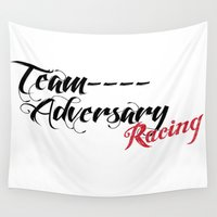 racing Wall Tapestries featuring Team Adversary Racing by TUFF Clothing