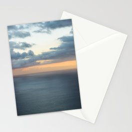 Dramatic sky and beautiful sunset over Atlantic ocean in Madeira island, Portugal. Stationery Cards