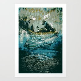 The Sound That Carries Across the Ocean Art Print