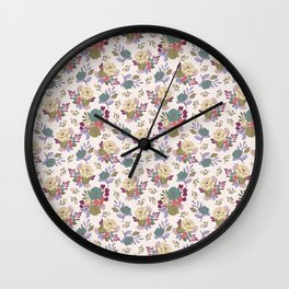 Vintage Florals: Mixed Wall Clock