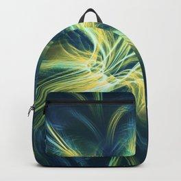 Fractal Flower Blue Palette Backpack