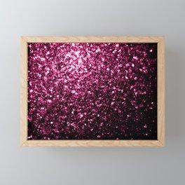Beautiful Dark Pink glitter sparkles Framed Mini Art Print