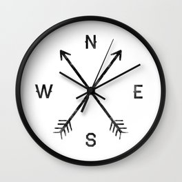 Compass (White) Wall Clock