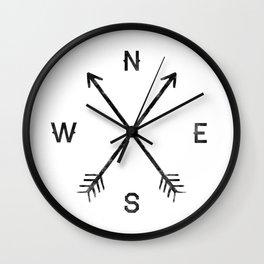 Compass (White) Wall Clock