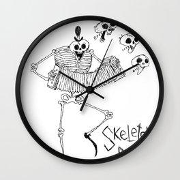 Skeleton Dance Wall Clock