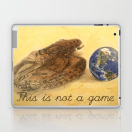 This is not a game by Jacques Lajeunesse Laptop & iPad Skin