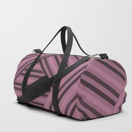 Black and pink striped pattern Duffle Bag
