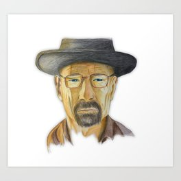 Heisenberg Drawing Art Print