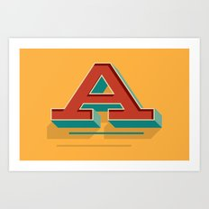 A is for... Anything Art Print
