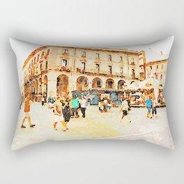 Teramo: square with carousel Rectangular Pillow