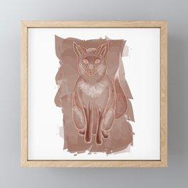 Watercolor Fox Framed Mini Art Print