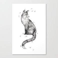 Foa // Graphite Canvas Print