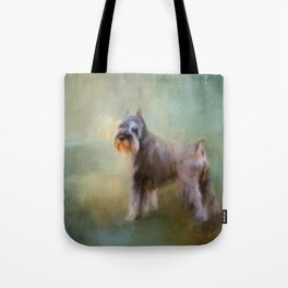 Schnauzer On Patrol Tote Bag