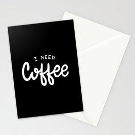 I need coffee #2 Stationery Cards