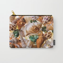 Seashells background Carry-All Pouch