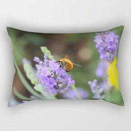 A bumblebee on lavender Rectangular Pillow
