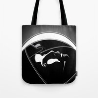 gravity Tote Bags featuring Gravity by justjeff