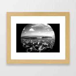 set wave Framed Art Print