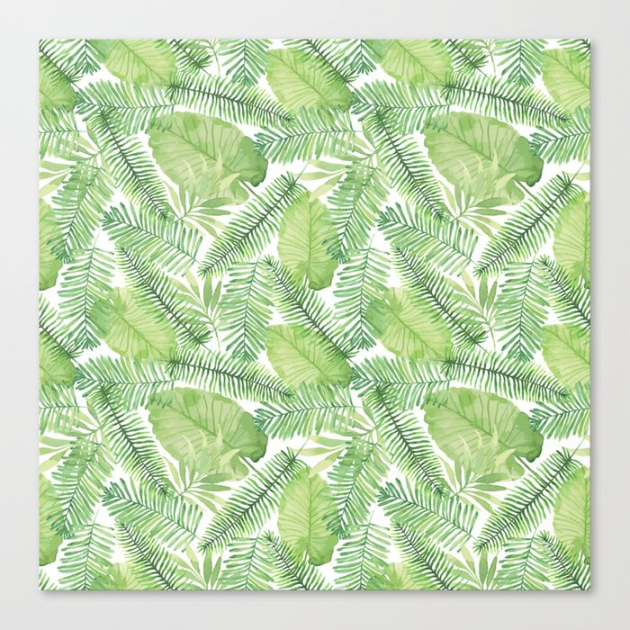 Tropical Branches Pattern 02 Canvas Print