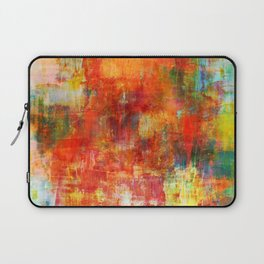 AUTUMN HARVEST - Fall Colorful Abstract Textural Painting Warm Red Orange Yellow Green Thanksgiving Laptop Sleeve
