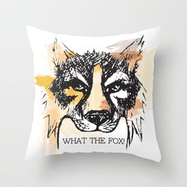 What the Fox Throw Pillow
