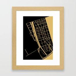 Toronto Map 1 - Gold on Black Framed Art Print