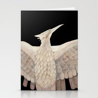 mockingjay Stationery Cards featuring The Mockingjay. by Lithh