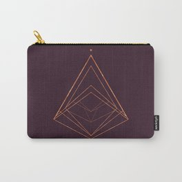 CHRISTMAS TREE GEOMETRICAL PLUM COPPER Carry-All Pouch