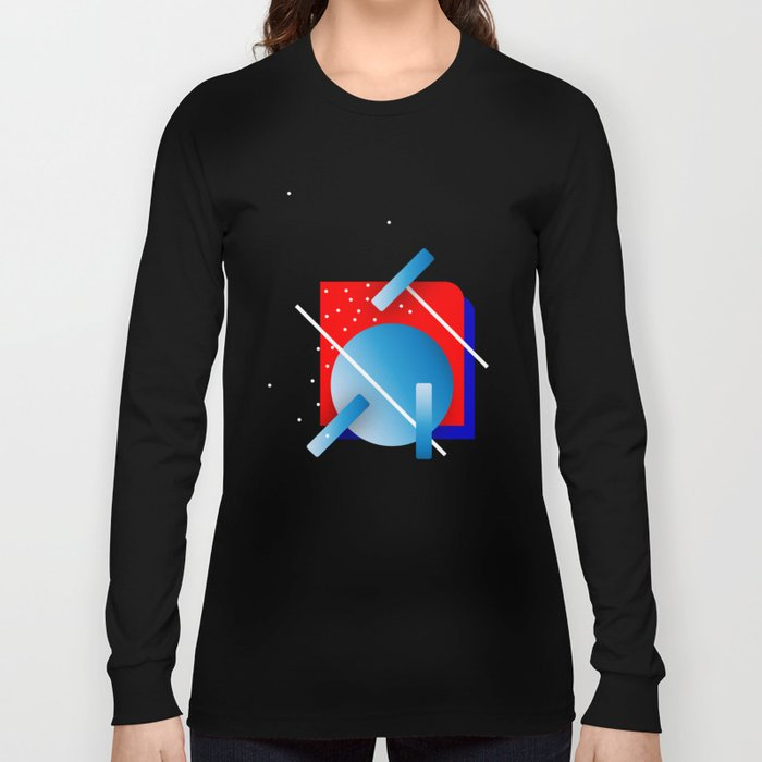 Happy rectangle Long Sleeve T-shirt