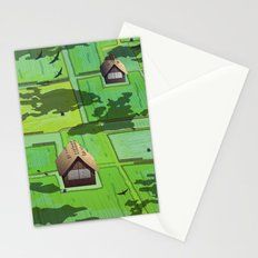 Rice paddy field Stationery Cards