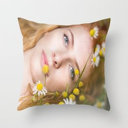 In the Daisy's Throw Pillow