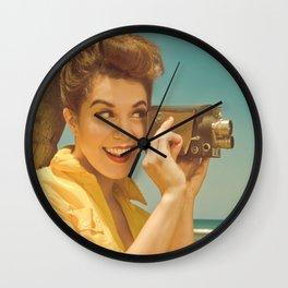 Paradise Pinup Wall Clock