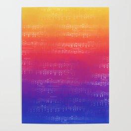 Sheet Music - Rainbow Partiture Poster