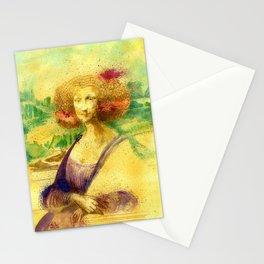The Gioconda Mashup Stationery Cards