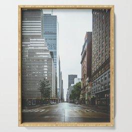 Empty Streets - New York City Serving Tray